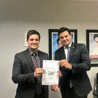 Em Brasília com o prefeito de Ribeirão do Pinhal Wagner