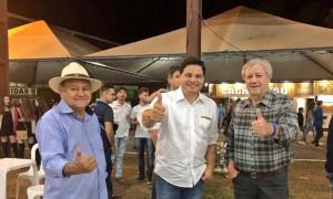 Em Ivaí com o nosso Prefeito Idir e o delegado Miguel.