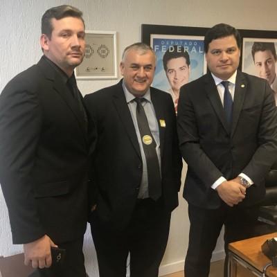 Com o prefeito Sebastião de Paulo Frontin