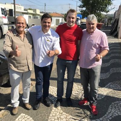 Em Palmeira com Altamir Sanson, Giovatan e Denis Sanson.