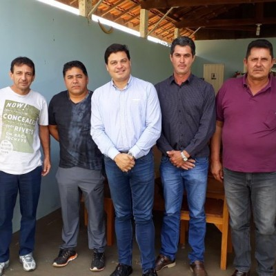 Em Guapirama com ex prefeito Dudu e vereadores do municipio.