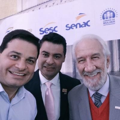 Darci Piana e o prefeito Marcelo Rangel