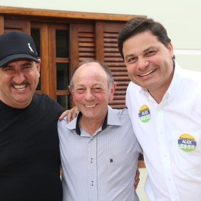 Com os amigos Ratinho e Valmor em Imbituva.