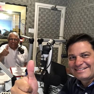 Junto com Nilson de Oliveira na Mundi FM