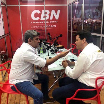 Conversando com a  CBN Londrina sobre os investimentos na região e os projetos para a INFRA do Paraná.