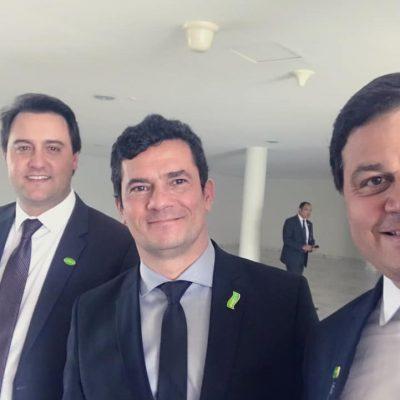 Governador Ratinho JR e o Ministro Sérgio Moro